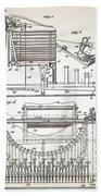Grundy Typewriter Patent 1889 Bath Towel