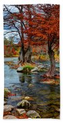 Guadalupe River In Autumn Hand Towel