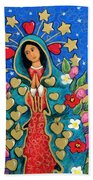 Guadalupe With Stars Bath Towel