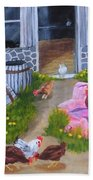 Guarding The Hen House Bath Towel