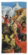 Guiseppe Garibaldi And His Army In The Battle With The Neopolitan Royal Troops Hand Towel