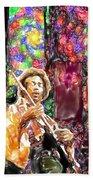 Guitar Watercolor Bath Towel