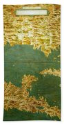 Gulf Of Mexico, States Of Central America, Cuba And Southern United States Bath Towel