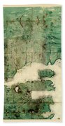 Gulf Of St Lawrence 1541 Hand Towel