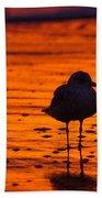 Gull Caught At Sunrise Bath Towel