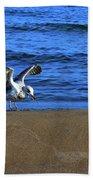 Gull On The Beach  Bath Towel