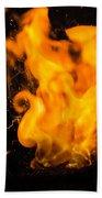 Gunpowder Flames Bath Towel