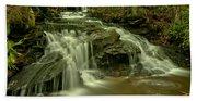 Gushing At Cave Falls Bath Towel
