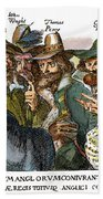 Guy Fawkes, 1570-1606 Bath Towel