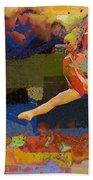 Gymnast Girl Bath Towel