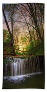 Gypsy Glen  Rd Waterfall  Hand Towel
