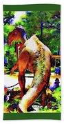Haddonfield Hadrosaurus Foulkii Bath Towel