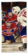 Halak Blocks Backstrom In Stanley Cup Playoffs 2010 Bath Towel