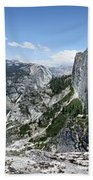 Half Dome And Yosemite Valley From The Diving Board - Yosemite Valley Bath Towel