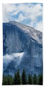 Half Dome In The Clouds Bath Towel