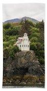 Halibut Cove Lighthouse Bath Towel