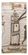 Halleys Comet Of 1066, Bayeux Tapestry Bath Towel