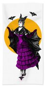 Halloween Batgirl Bath Towel