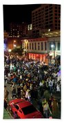 Halloween Draws Tens Of Thousands To Celebrate On 6th Street Bath Towel
