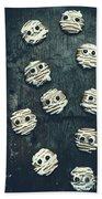 Halloween Mummy Cookies Bath Towel
