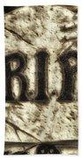 Halloween Rip Rest In Peace Headstone Bath Towel