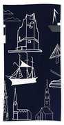 Hamburg In Miniature Bath Towel