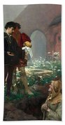 Hamlet And The Gravediggers Bath Towel