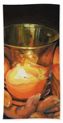 Hands By Candlelight Bath Towel