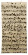 Handwritten Score For Mass In B Minor Bath Towel
