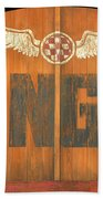 Hangar Bar Entrance Sign Bath Towel