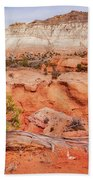 Hanging On The Cliff At Kodachrome Basin State Park Bath Towel