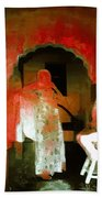 Hanging Out Travel Exotic Arches Red Abstract Square India Rajasthan 1e Bath Towel