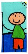 Happi Arte 2 - Boy Fish Art Bath Towel
