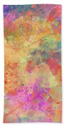 Happiness Abstract Painting Bath Towel