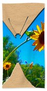 Happy Day Greeting Card Hand Towel