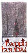 Happy Holidays Bath Towel