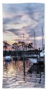 Happy Hour Sunset At Bluewater Bay Marina, Florida Bath Towel