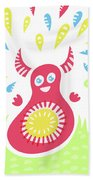 Happy Jumping Creature Hand Towel