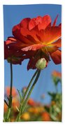 Happy Mother's Day Flowers Bath Towel