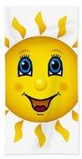 Happy Smiling Sun Bath Towel