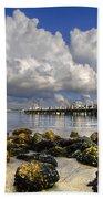 Harbor Clouds At Boynton Beach Inlet Bath Towel