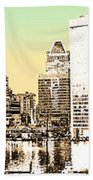 Harbor Lights From Federal Hill - Drawing Fx Bath Towel