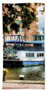 Harbor Park Ferry 5 Bath Sheet by Lanjee Chee