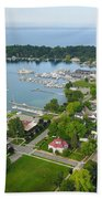 Harbor Springs From Above Bath Towel