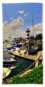 Harbour Town Marina Sea Pines Resort Hilton Head Sc Bath Towel by Lisa Wooten