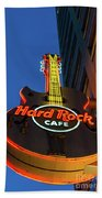 Hard Rock Guitar Detroit Bath Towel