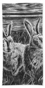 Hare Line  Bath Towel