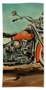 Harley Davidson 1956 Flh Bath Towel