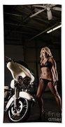 Harley Davidson Motorcycle Bikini  Bath Towel