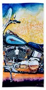 Harley Hog I Bath Towel